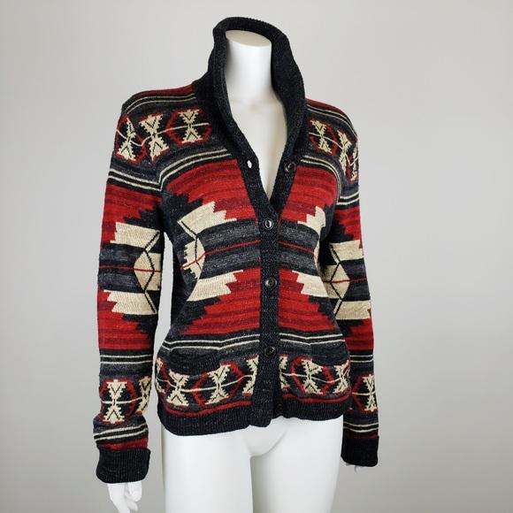 cortesía Resaltar conformidad  Ralph Lauren Sweaters   Southwestern Cardigan Sweater   Poshmark